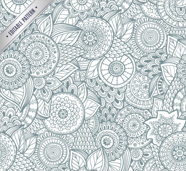 Abstract Black & White Floral Background