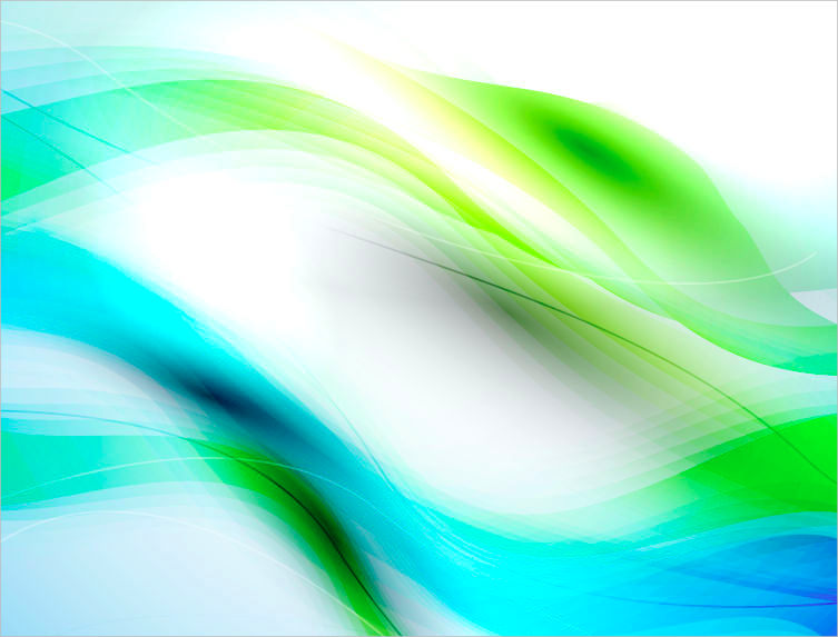 Abstract Blue & Green Waves Background