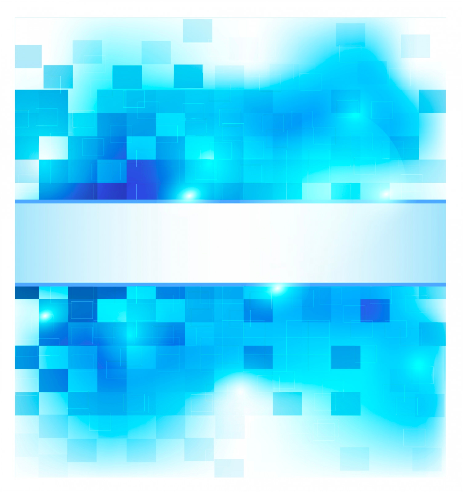 Abstract Blue & White Squares Background
