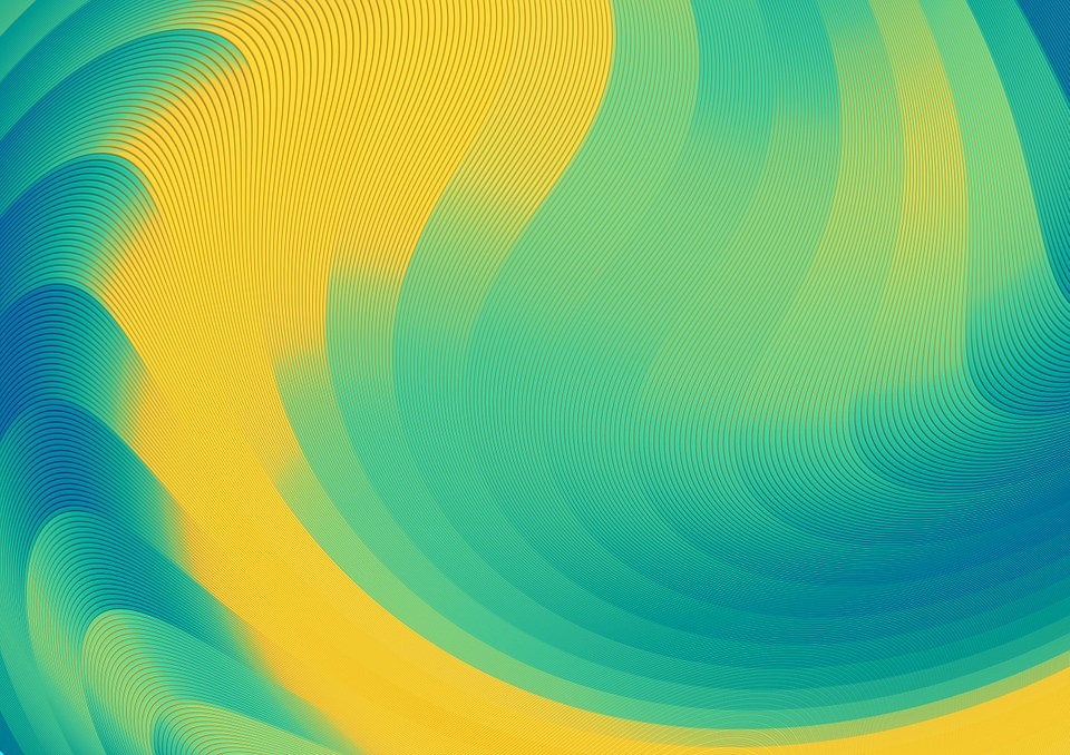 Abstract Blue & Yellow Background For Free
