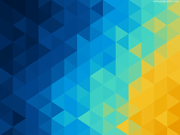 Abstract Mosaic Blue & Yellow Background