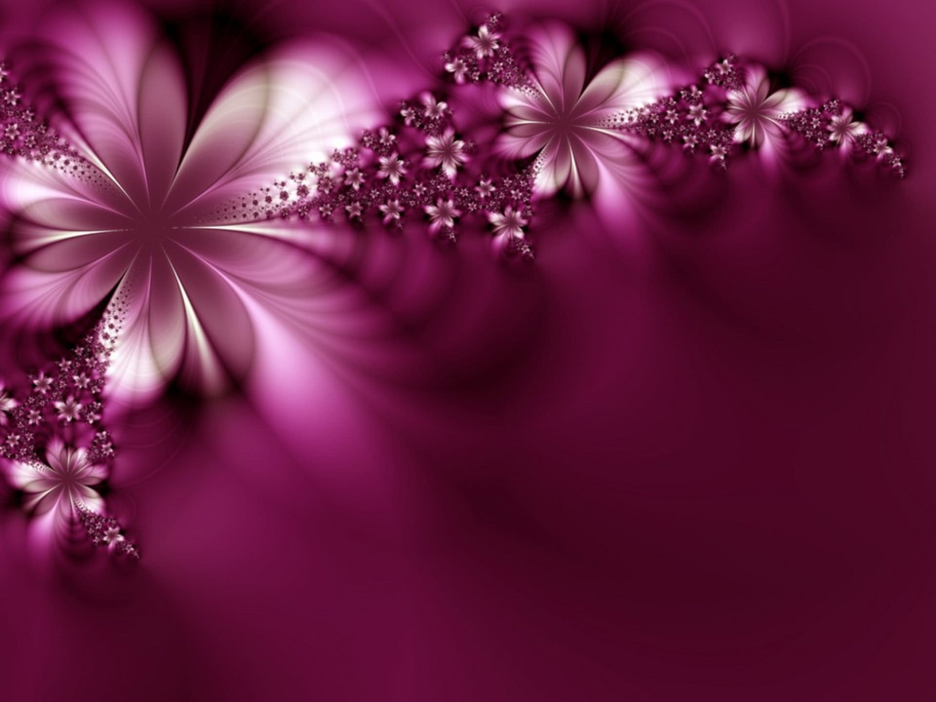 Abstract Purple HD Flower Wallpaper