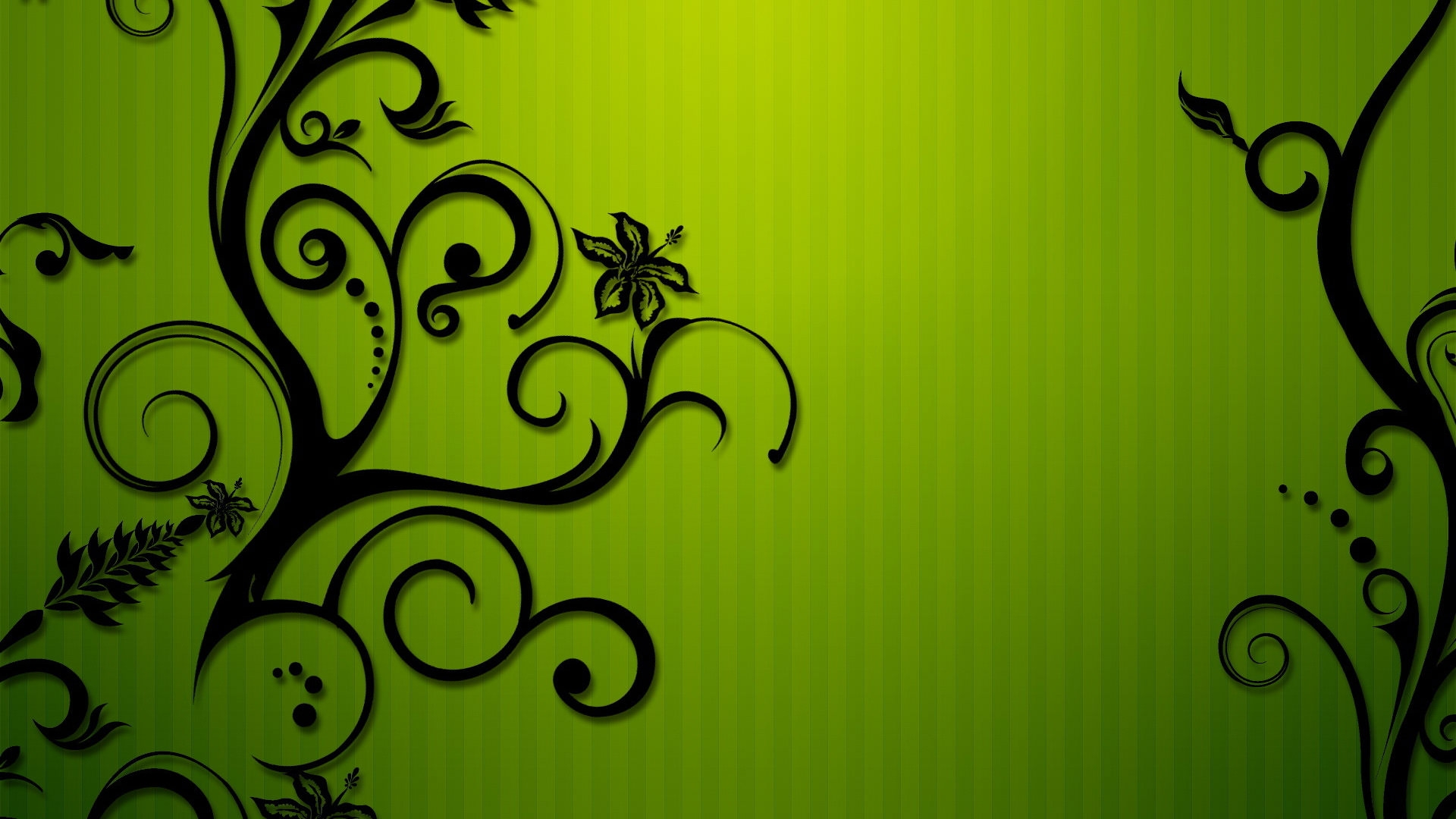 10 high res beautiful green floral wallpaper patterns - Lime green and white wallpaper ...