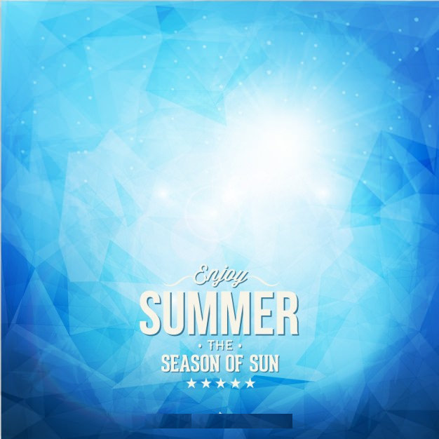 Abstract Summer baby Blue Background