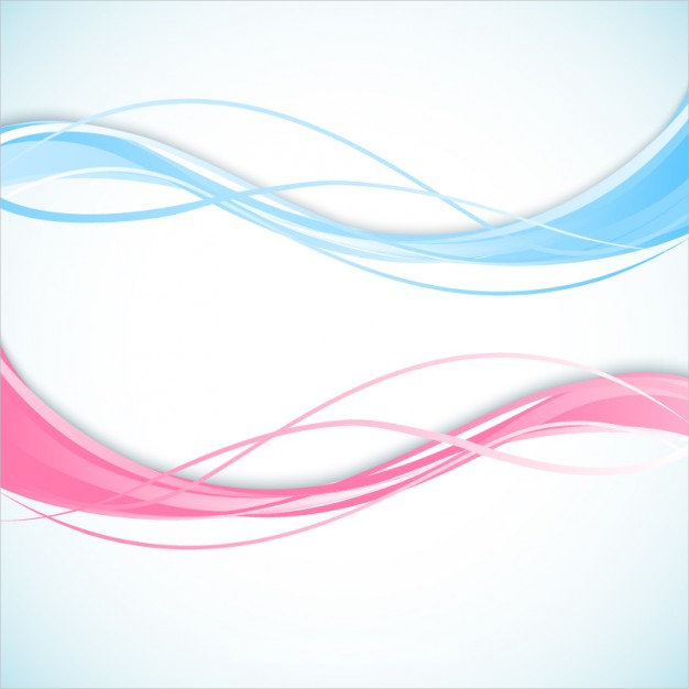Abstract Wave Background in Pink & Blue Colors