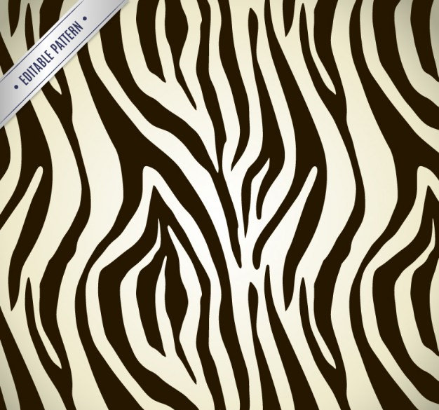 Abstract Zebra Pattern Free Vector
