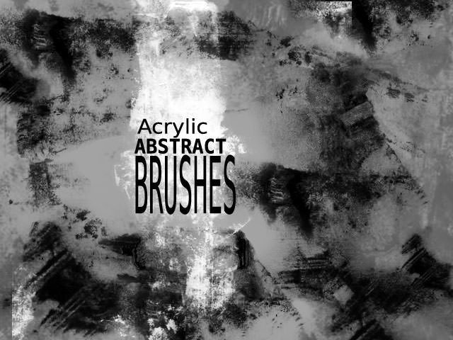 Acrylic Abstract Photoshop Brushes