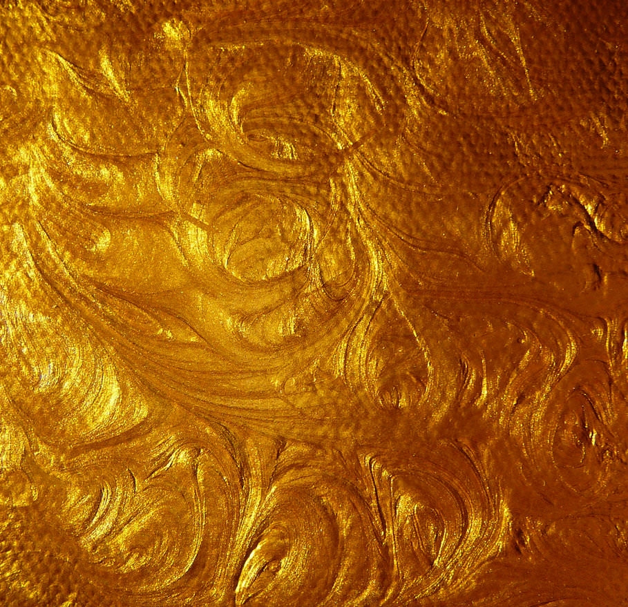 Acrylic Gold Paint Swirl Stock Texture