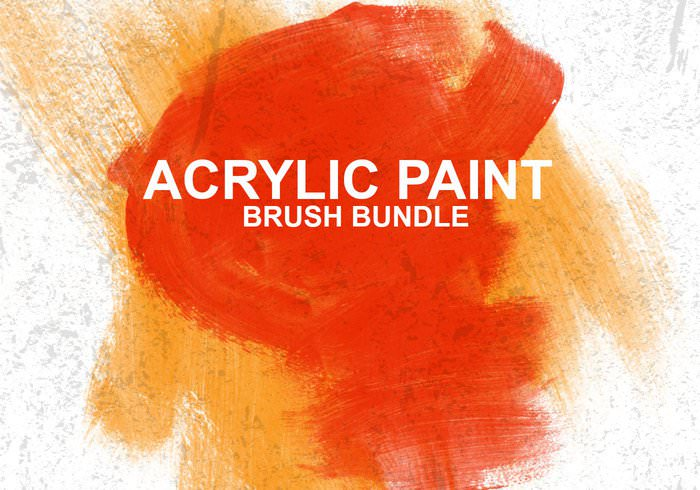 Acrylic Paint Brushes Bundle for Photoshop