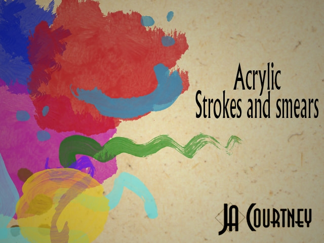 Acrylic Strokes and Smear Brushes Set