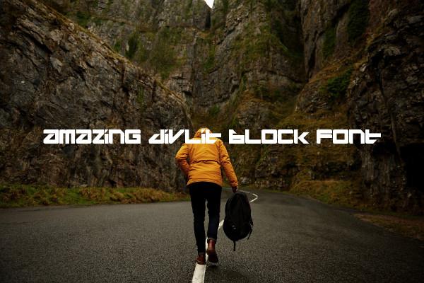 Amazing Divlit Block Font
