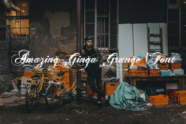 Amazing Ginga Grunge Font