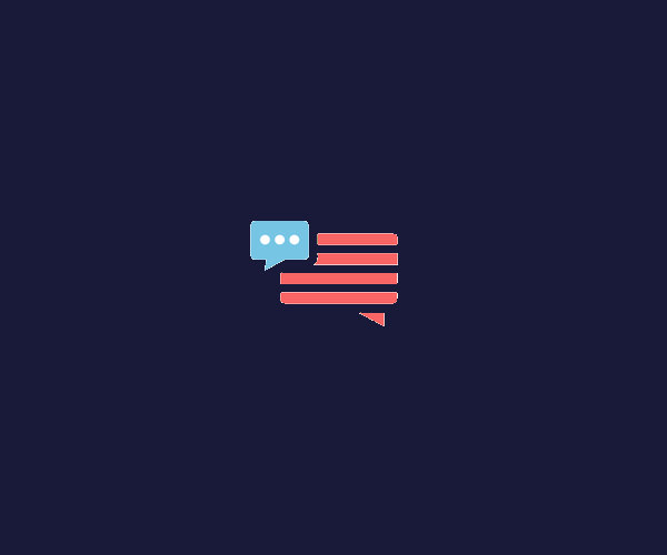 America Talk Logo Design For Free