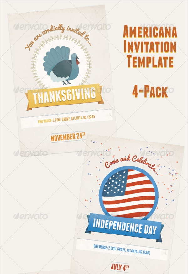 american holiday party invitation flyer