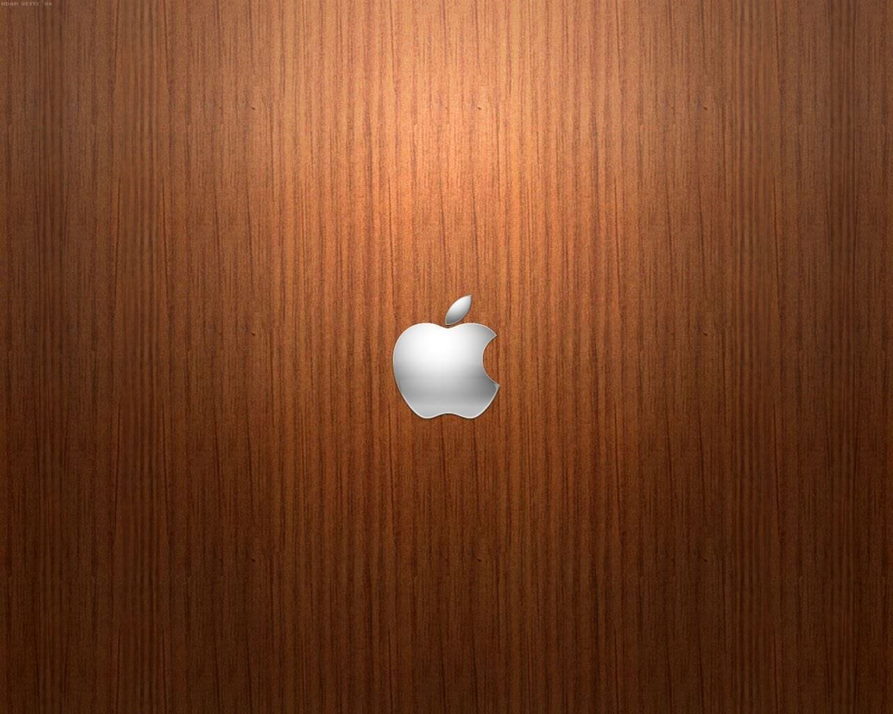 Apple Desktop Wood Wallpaper