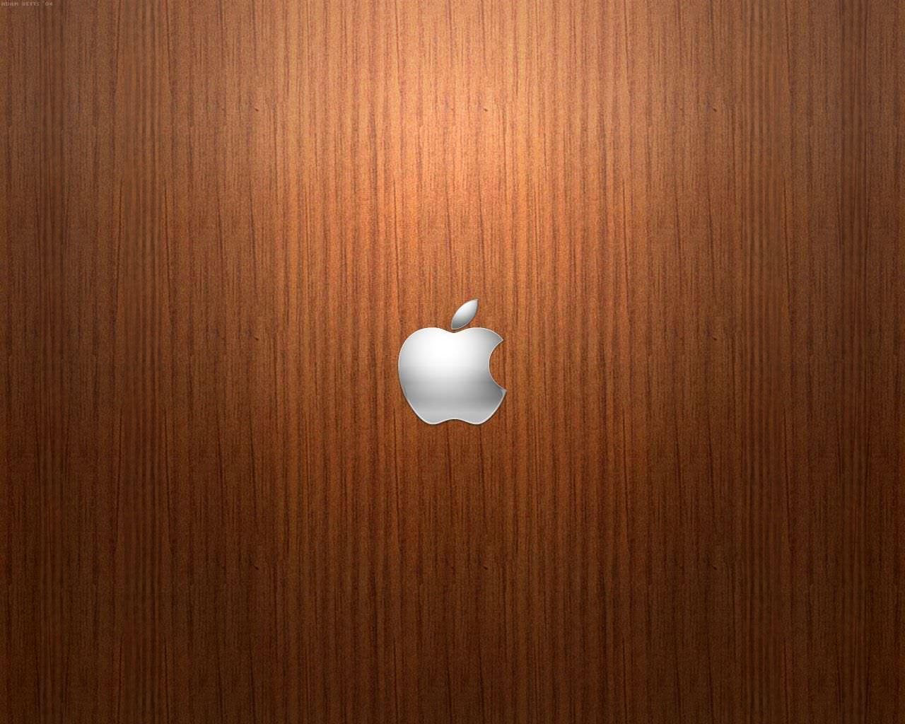 Brown Apple Logo Wallpaper For Mac