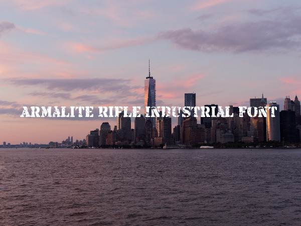 Armalite Rifle Industrial Font