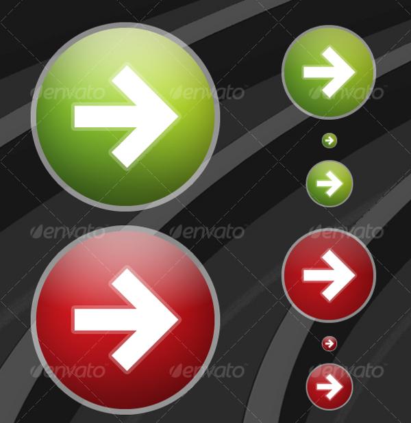 Arrow Button Web Design