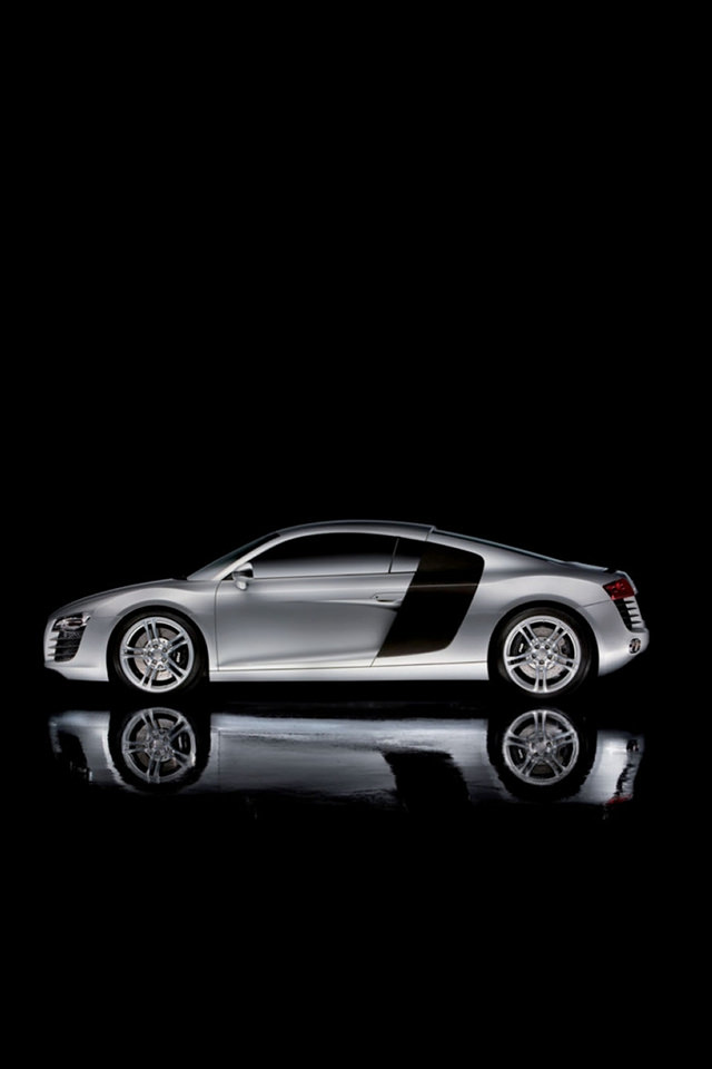 Audi R8 Dark Concept Car iPhone 4s Background