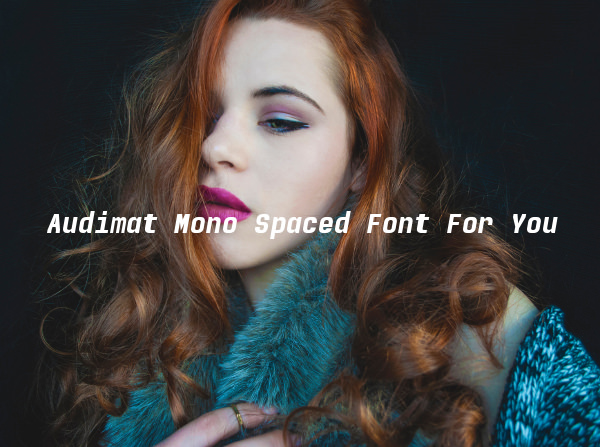Audimat Mono Spaced Font For You