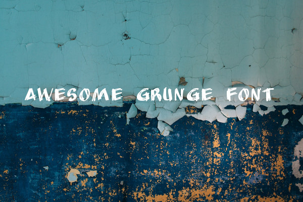 Awesome Grunge Font For Download