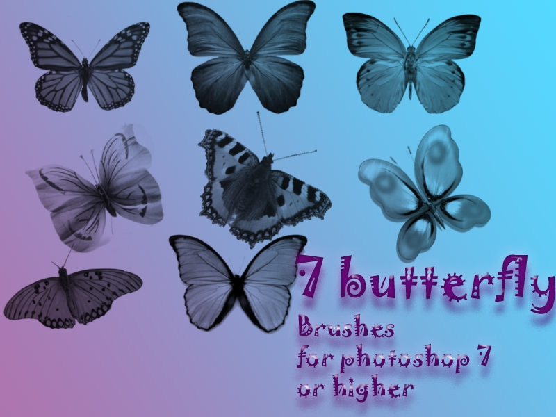Awesome Pretty Butterfly Brushes for Photoshop