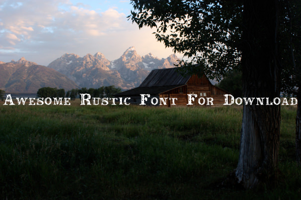 Awesome Rustic Font For Download