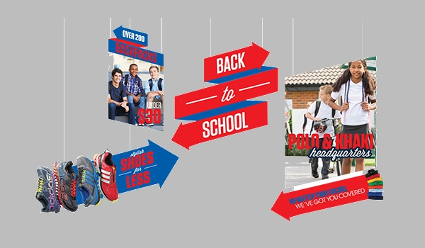 BTS Retail Hanging Banner Design