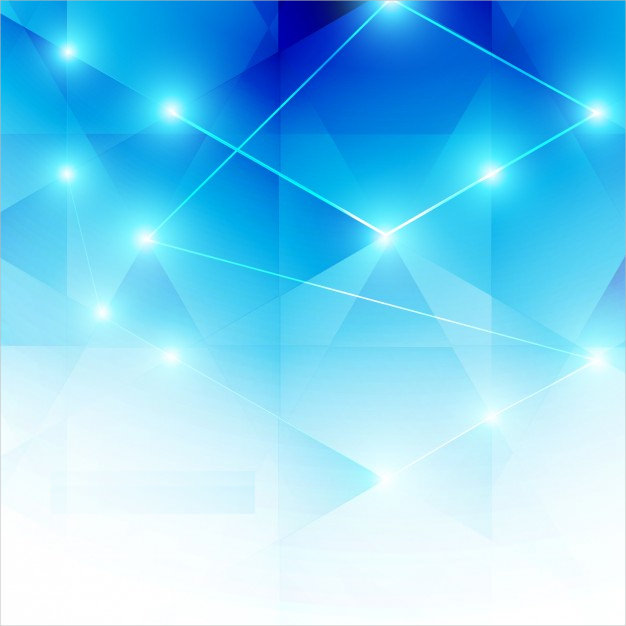 Baby Blue Abstract Background in Poly Style