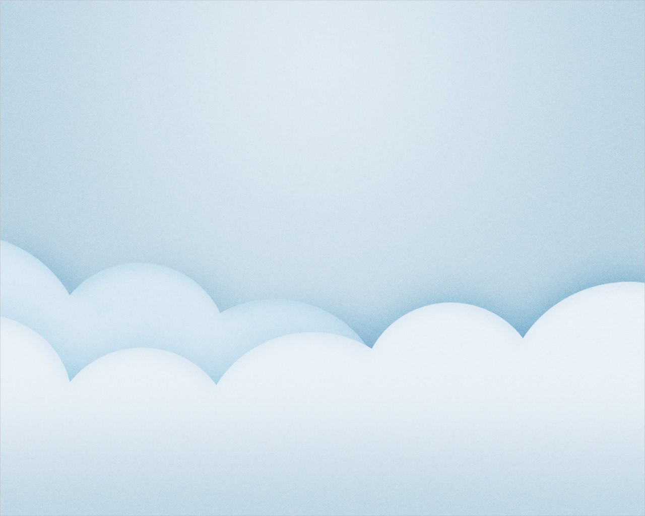 Baby Blue Minimalistic Clouds Background