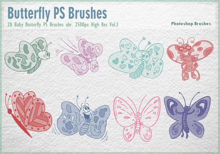 Baby Butterfly Photoshop Brushes