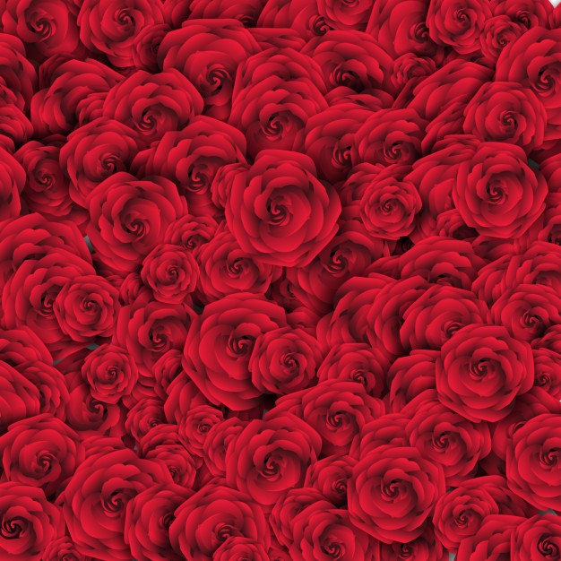 Background with Red Roses Free Vector