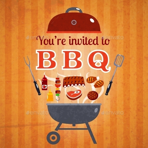 Barbecue Invitation Event Poster