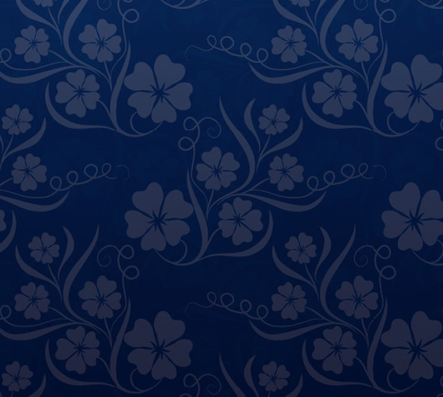 Beautiful Blue Floral iPhone 5s Wallpaper