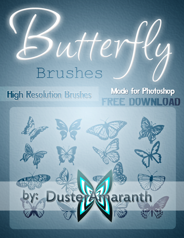 Beautiful Butterfly Brushes