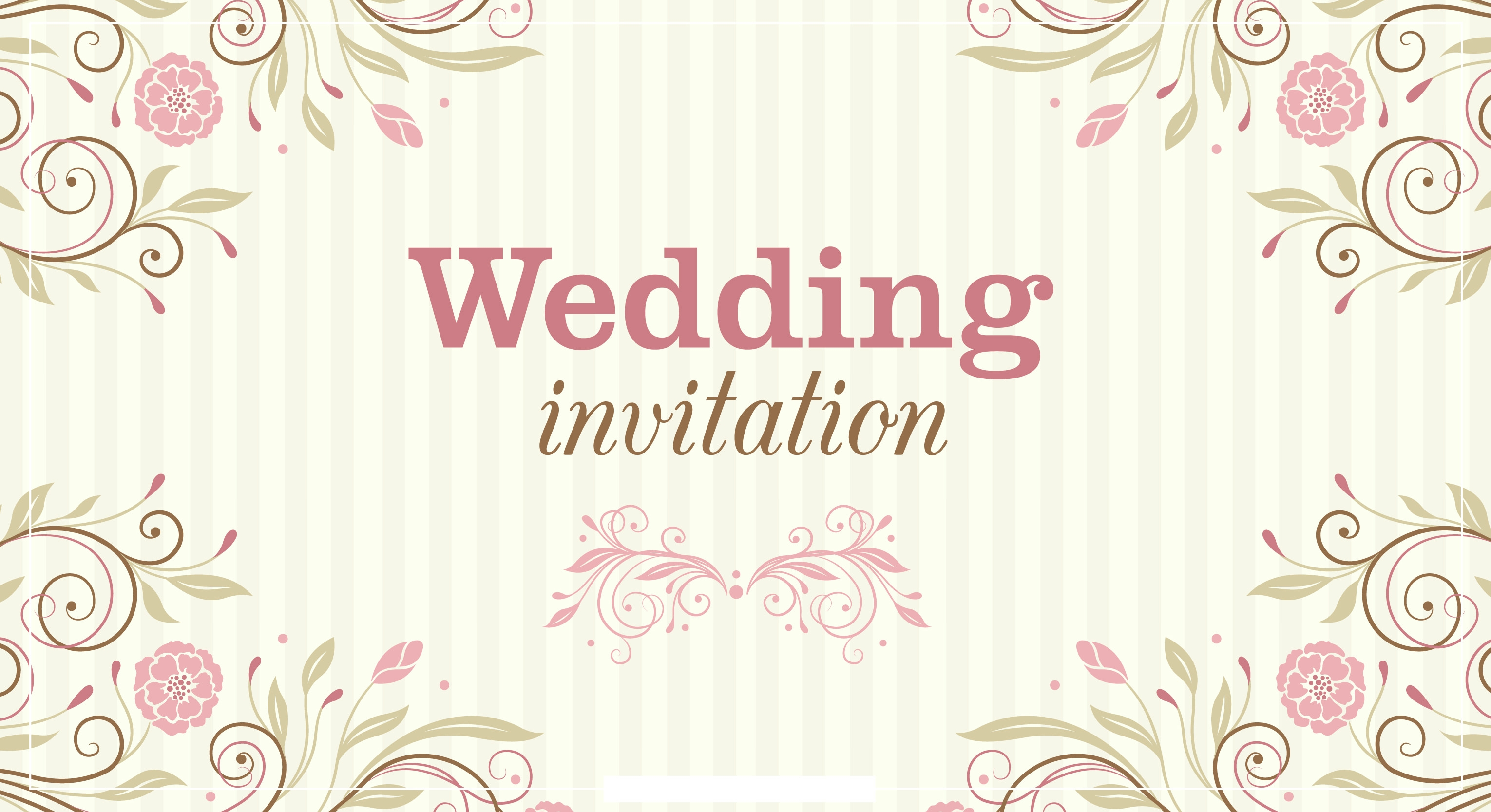 High Quality Beautiful Floral Wedding Invitation Background