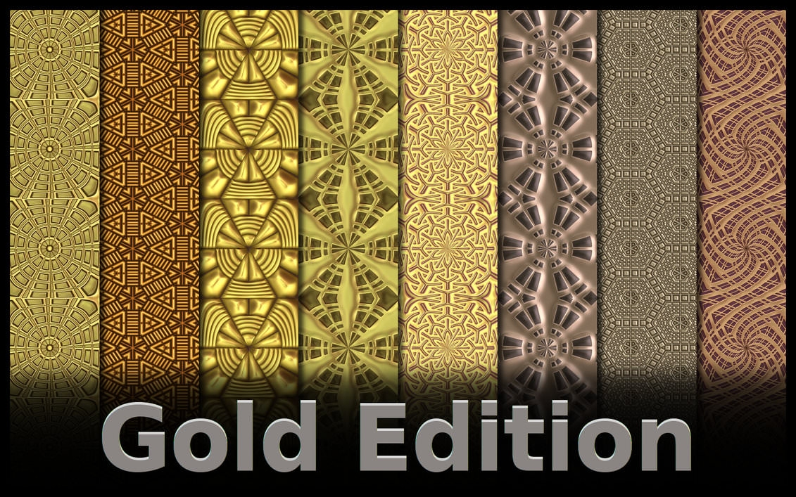 Beautiful Gold Edition Photoshop Patterns
