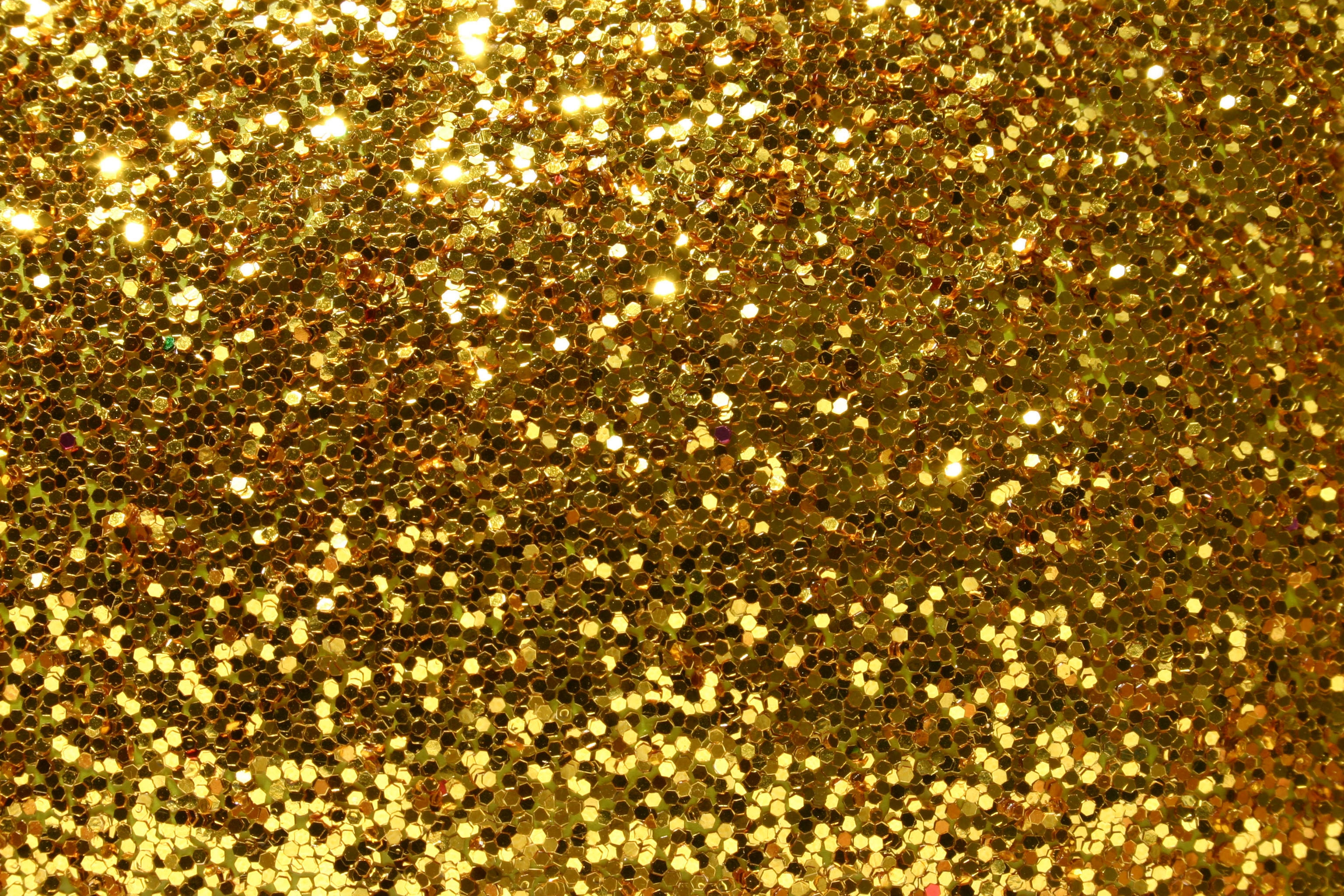 Beautiful Golden Glitter Background