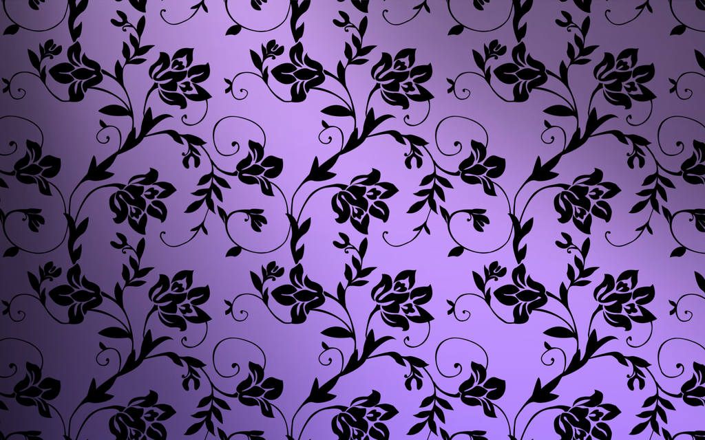 Beautiful Minimalistic Purple Floral Wallpaper Pattern