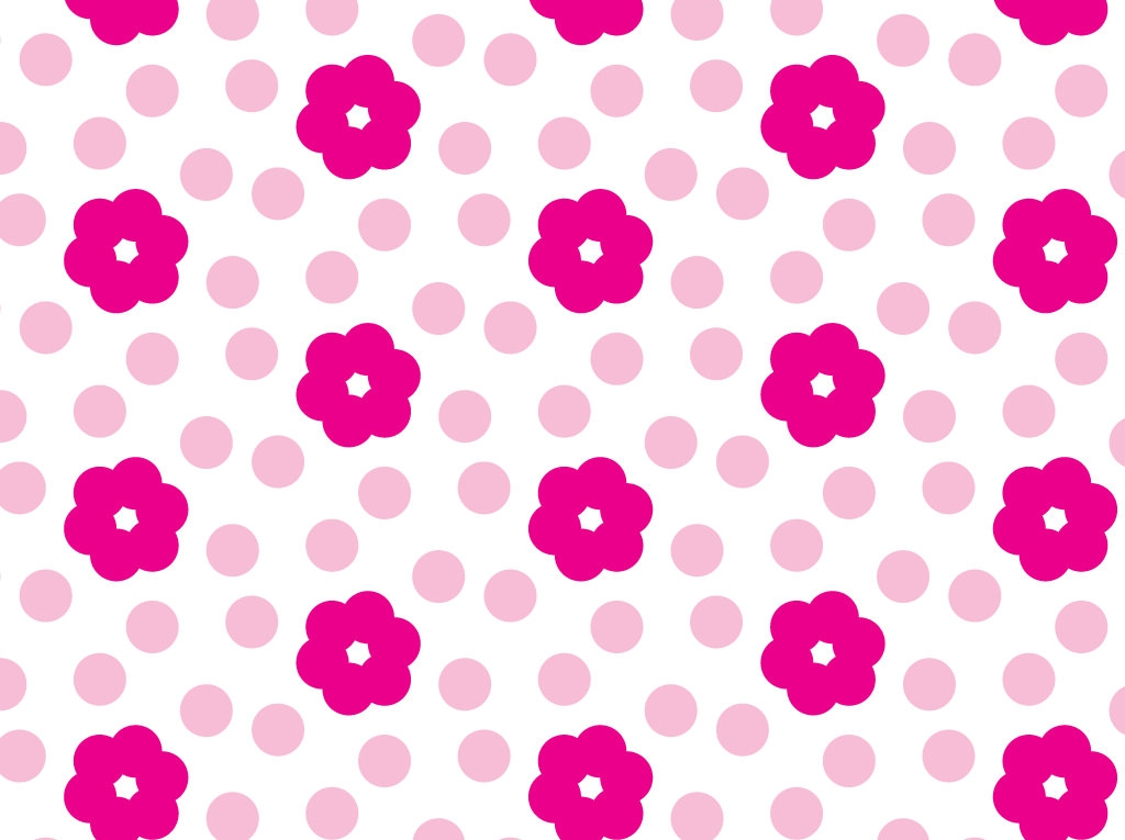 Beautiful Pink Flowers Pattern
