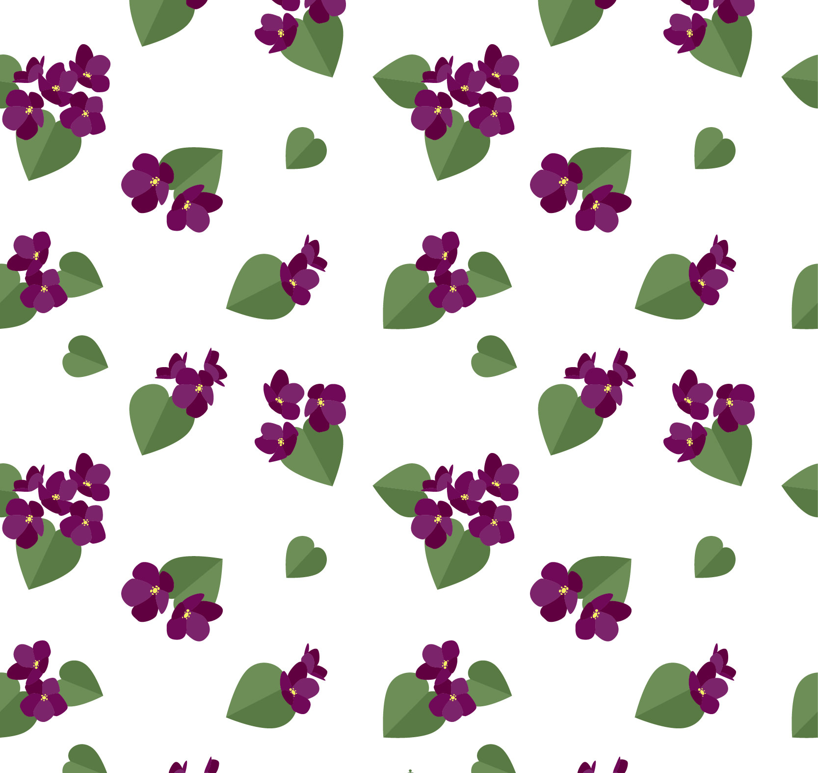 Beautiful Purple Flowers Pattern for Photoshop