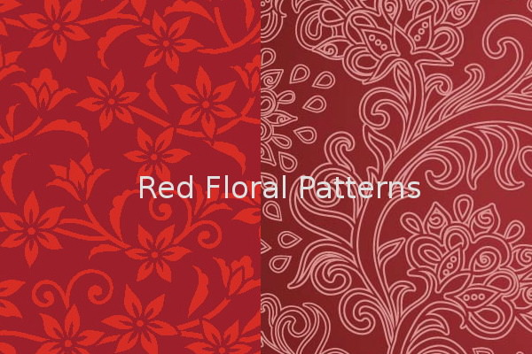 Beautiful Red Floral Patterns for Free Download