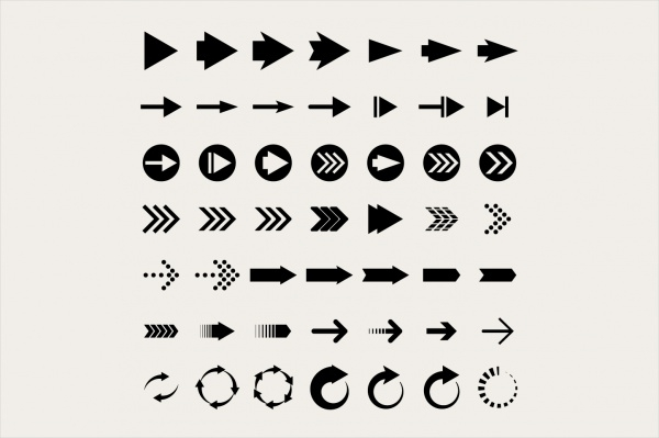 Black Arrow Buttons Design