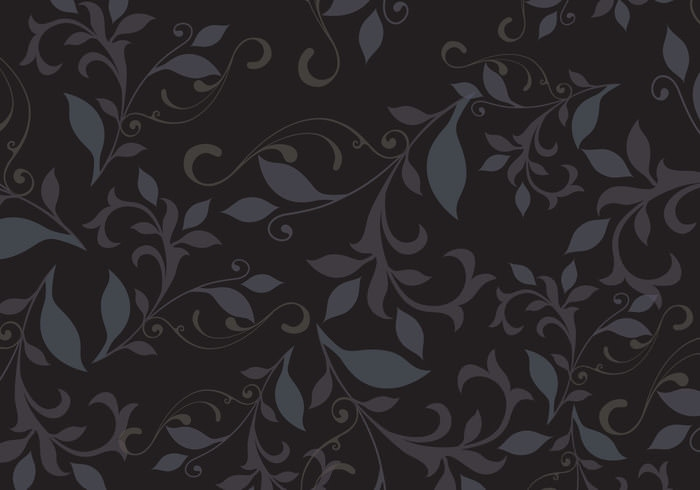 Black Floral Pattern Background