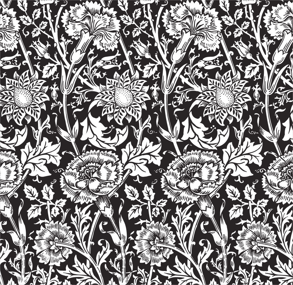 Black Flower Pattern For Free