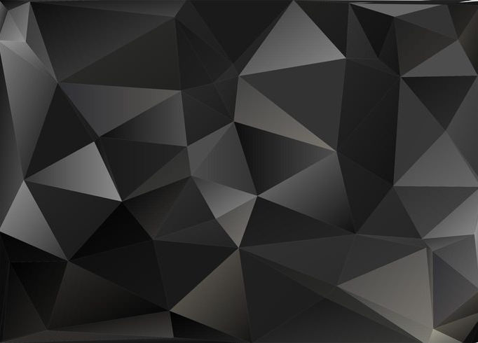 Black Polygon Vector Pattern For You