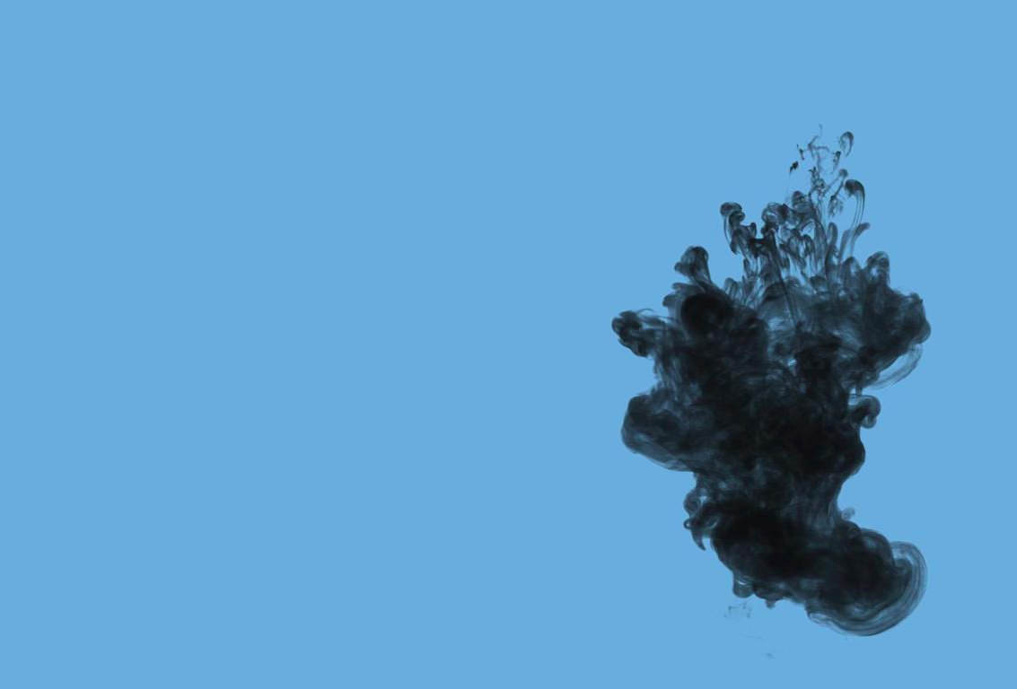 Black Smoke in Blue Background For Free