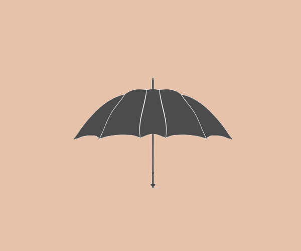 Black Umbrella Logo Design For Free