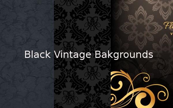 Black Vintage Backgrounds