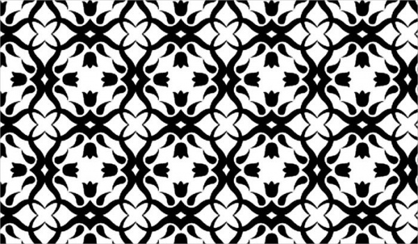 Black & White Creative Floral Pattern